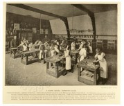 Carpentry Class at Kilburn Lane Higher Grade School
