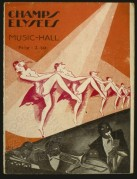Programme cover for the Champs Elysees Music Hall