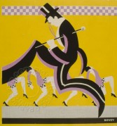 Poster of a Dancer in Top hat and Tails with chorus line behind
