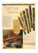 Advert for Dunhill Namiki Fountain Pens