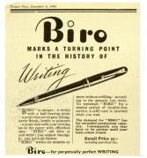 Mono advert for Biro pens