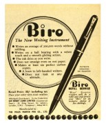 Mono advert for Biro pens and Biro refill service