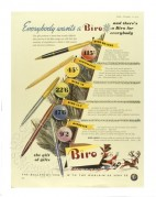 Colour advert for Biro pens