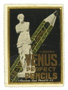 American poster stamp for Venus Pencils