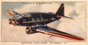 Cigarette Card – Central Airlines