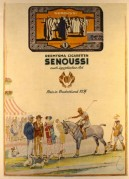 Advert for Senoussi Cigarettes