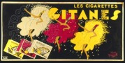 Tin Showcard for Gitanes Cigarettes
