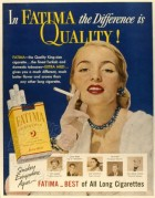 American Advert for Fatima Cigarettes