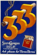 Advert for Three Threes Cigarettes
