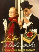 Advert for Lucky Strike Cigarettes
