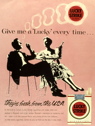 Advert for Lucky Strike Cigarettes | Retrograph