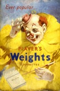 Advert for Player's Weights Cigarettes