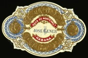 Jose Gener Cigar Label