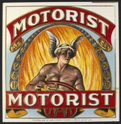 Motorist USA Cigar Label