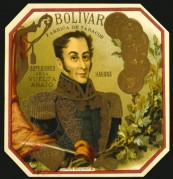 Bolivar Cigar Label