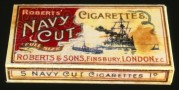 Robert's Navy Cut Cigarette packet