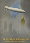 Advert for Zeppelin flights to New York