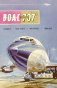 BOAC advert for 707 flights from London