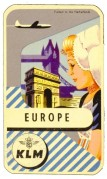 Advert for KLM flights to Europe