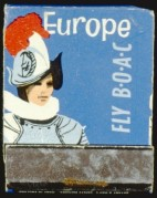 BOAC advert for flights to Europe