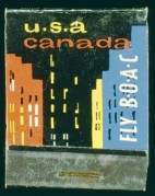 BOAC advert for flights to USA and Canada