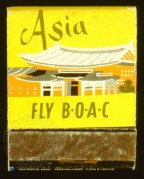 BOAC advert for flights to Asia