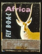BOAC advert for flights to Africa