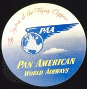 Luggage label for Pan American World Airways
