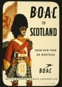 BOAC advert for flights to Scotland