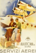 Advert for Ala Littoria airlines