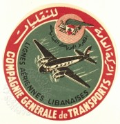 Luggage label for Lebanese Airlines