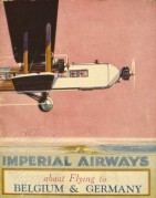 Imperial Airways advert for flights to Belgium and Germany