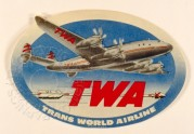 Luggage label for TWA