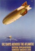 Poster for Zeppelin flight in Nazi Germany