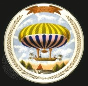 Celebration plate for French balloonist