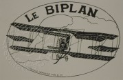 Luggage label for Le Biplan