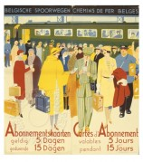 Advert for Season Tickets on Belgian Railways