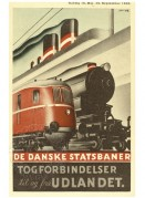 Timetable for Danish State Railways