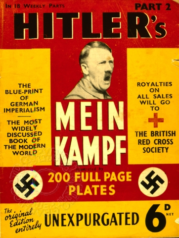 a brief of adolf hitlers popular book mein kampf